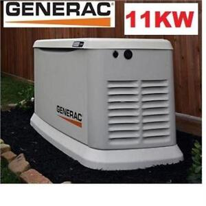 NEW GENERAC 11KW STANDBY GENERATOR 7032 209217480 W/16 CIRCUIT 100A TRANSFER SWITCH