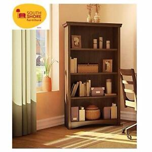 NEW* SOUTH SHORE BOOKCASE   GASCONY COLLECTION - SUMPTUOUS CHERRY SHELF SHELVING UNIT HOME FURNITURE  99234121
