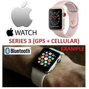 OB APPLE WATCH SERIES 3 38MM MQJQ2LL/A 222935681 GPS+CELL GOLD ALUMINUM CASE W/ PINK SAND SPORT BAND GPS + CELLULAR O...