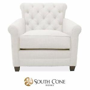 NEW* SCH MONZA TUFTED ARM CHAIR SOUTH CONE HOME WHITE FURNITURE DECOR LIVING ROOM ACCENT CHAIRS SEATING SEAT 98221187
