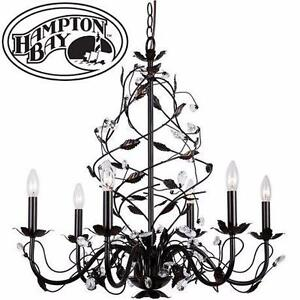 NEW* HAMPTON BAY 6 LIGHT CHANDELIER  OIL RUBBED BRONZE - Lighting & Ceiling Fans Hanging Lights Chandeliers 92269122