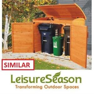 NEW LEISURE SEASON STORAGE SHED RSS2001L 187079671 LARGE HORIZONTAL REFUSE ORGANIZATION SHEDS CONTAINER