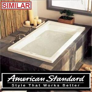 "NEW*AS EVERCLEAN 5 FT WHIRLPOOL TUB AMERICAN STANDARD - REVERSIBLE DRAIN WHITE EVERCLEAN - 5' FT. x 32"" IN. BATHTUB"