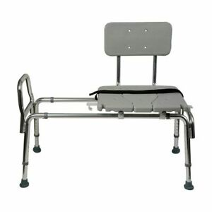 sliding transfer bench for bath shower