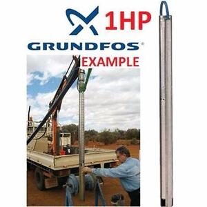 "NEW GRUNDFOS 3"" SUB WELL PUMP 1HP   SUBMERSIBLE WELL PUMP - 200V-240V - 9.5A - 10GPM PLUMBING INDUSTRIAL  93179153"