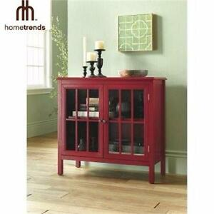 NEW* HOMETRENDS GLASS DOOR CABINET TEMPERED ACCENT CABINET - HOME - BATH - STORAGE HUTCH DISPLAY CABINET 99073525