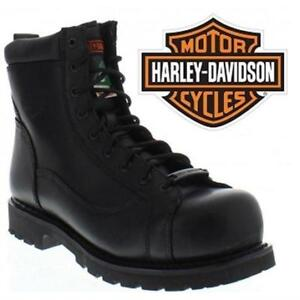 NEW HARLEY BOOTS WOMEN'S 6.5 D11238 207031489 HARLEY DAVIDSON GREGARIOUS CSA SAFETY BLACK SHOES