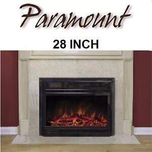 NEW PARAMOUNT ELECTRIC FIREPLACE   RETROFIT - FIRPLACE INSERT - 28 INCH HOME LIVING ROOM DECOR HEATER 98033542