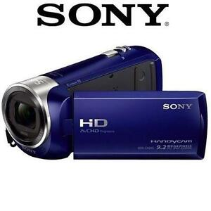 "NEW OB SONY HD HANDYCAM CAMCORDER VIDEO CAMERA 2.7"" LCD - BLUE 1080P FULL 97492219"