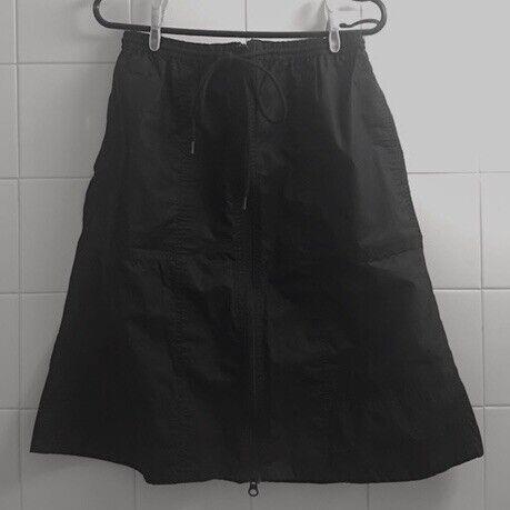 b815158ae Women's Uniqlo U Front Zip Mid-Length Black Drawstring Skirt | in ...