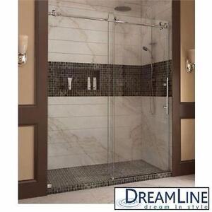 "NEW DREAMLINE SLIDING SHOWER DOORS   ENIGMA-X 56"" TO 60""x76"" FRAMELESS SLIDING SHOWER DOOR SYSTEM BATHROOM BATH 91226399"