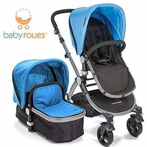 NEW BABYROUES LETOUR II STROLLER   BLUE - 3-IN-1 TRAVEL SYSTEM BABY CARRIER TRAVEL GEAR 96897696