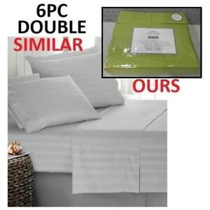 NEW BAMBOO 6PC BED SHEET SET DOUBLE HA-1114D 223598844 HOME LUXURY 6800 SERIES DEEP POCKET WRINKLE FREE BEDDING BEDROOM
