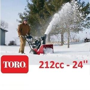 NEW TORO SNOW BLOWER 212cc 37779 220227622 SNOW REMOVAL CLEARING 24'' ELECTRIC START