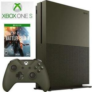 NEW XBOX ONE S 1TB CONSOLE 234-00055 140340195 BATTLEFIELD 1 SPECIAL EDITION VIDEO GAME SYSTEM MICROSOFT
