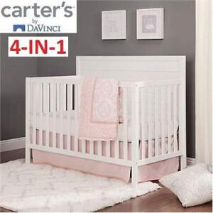NEW* CARTER'S CONVERTIBLE CRIB F11501W 223474331 4-IN-1 WHITE DAVINCI MORGAN BABY INFANT NURSERY
