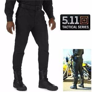 NEW 5.11 TACTICAL PANTS MEN'S 34R   TACTICAL SERIES - MOTORCYCLE BREECHES - BLACK UNIFORM MEN CLOTHING 98159904