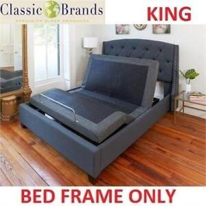 NEW ADJUSTABLE KING BED BASE 126010-5060 219148509 CLASSIC BRANDS MASSAGE WIRELESS REMOTE USB PORTS