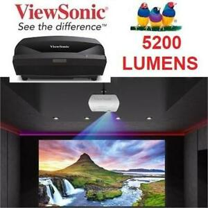 NEW VIEWSONIC 5200 LUMENS PROJECTOR LS810 243758435 WXGA HDMI Ultra Short Throw HDMI HOME THEATRE