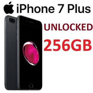 NEW APPLE IPHONE 7 PLUS 256GB MN4W2VC/A 219604342 CELL PHONE SMARTPHONE SMART PHONE MATTE BLACK  UNLOCKED