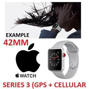 NEW APPLE WATCH SERIES 3 42MM MQK12LL/A 177632562 GPS+CELL SILVER ALUMINUM FOG SPORT BAND GPS + CELLULAR