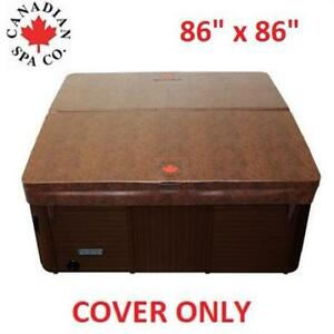 """NEW* CANADIAN SPA COMPANY SPA COVER KC-10005 200668236 86""""x86"""" SQUARE TAPER BROWN"""