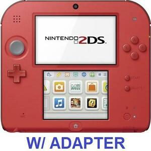 REFURB NINTENDO 2DS GAME SYSTEM HANDHELD GAME CONSOLE SYSTEM RED 111559909