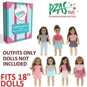 NEW WARDROBE MAKEOVER KIT FOR DOLLS 252735802 PZAS TOYS INCLUDES 7 OUTFITS - FITS 18 AMERICAN GIRL DOLLS - NO DOLL I...