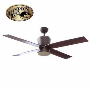 NEW HAMPTON BAY 52'' CEILING FAN   TRUSSEAU - OIL RUBBED BRONZE HOME DECOR ACCENT HOME FURNITURE 92159457