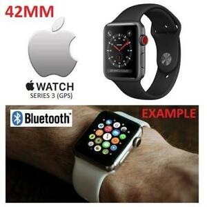 NEW APPLE WATCH SERIES 3 42MM MQL12LL/A 177092860 SPACE GREY ALUMINUM W/ BLACK SPORT BAND GPS