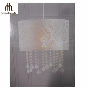 NEW HT LASER CUT PENDANT LIGHT DINING ROOM INDOOR LIGHT HOME TRENDS PLUG-IN PENDANT LIGHT  WHITE 90974856