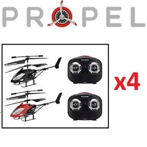 4 NEW 2PK PROPEL RC HELICOPTER SET 220862251 TEMPEST II 2 PACK REMOTE CONTROLLED TOY DRONE INDOOR 8 HELICOPTERS IN TOTAL