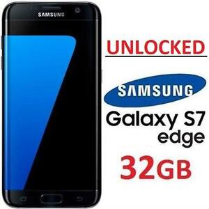 NEW OB SAMSUNG S7 EDGE SMARTPHONE 32GB SMART PHONE CELL PHONE ANDROID GALAXY S7 EDGE BLACK ONYX UNLOCKED 111525253