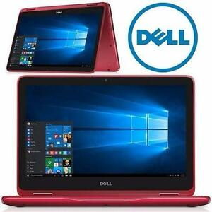 "REFURB DELL 2-IN-1 NOTEBOOK TABLET   11.6"" HD 2-in-1 COMPUTER LAPTOP TABLET - ELECTRONICS - TANGO RED PC  97235811"
