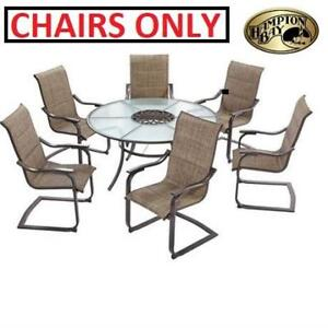 NEW 6PC HAMPTON BAY PATIO CHAIRS SP-K-609SET7N 199471705 PATIO ST LUCIA PATIO FURNITURE