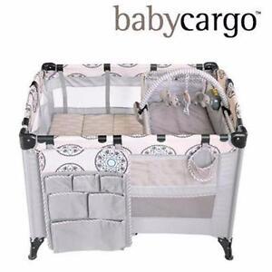 NEW BABY CARGO PORTABLE PLAYARD   PLUSH & PLAY PREMIER NURSERY BABY PLAYPEN FURNITURE 97890313
