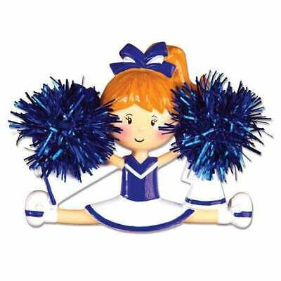 Cheerleader (Blue) Personalized Christmas Ornament OR1488-B ()