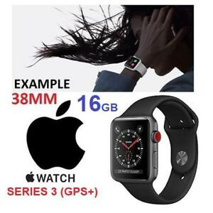 NEW APPLE WATCH SERIES 3 GPS+ MQJP2CL/A 208527484 SPACE GREY AI BLACK SPORT CELLULAR FACTORY SEALED