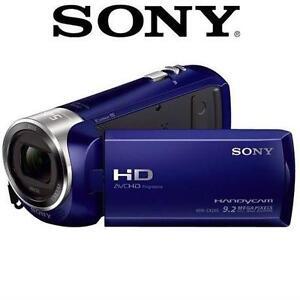 "NEW OB SONY HD HANDYCAM CAMCORDER VIDEO CAMERA 2.7"" LCD - BLUE 1080P FULL 97492219"