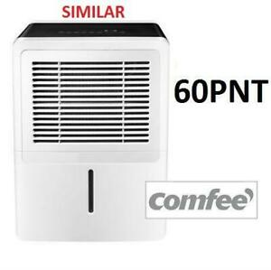 NEW COMFEE 60 PINT DEHUMIDIFIER D-MDNK-60AEN1-BA9 247449963 REMOVABLE DUST FILTER WATER EXTRACTION