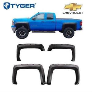 NEW TYGER AUTO 4PC FENDER FLARE SET TG-FF8C4128 202121849 FOR 14-18 CHEVY SILVERADO FLEETSIDE MODELS - SEE COMMENTS
