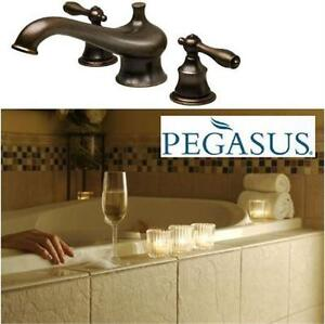 NEW PEGASUS DM ROMAN TUB FAUCET 9200 Series Double Handle Deck Mount Roman Tub Faucet Trim Home Improvement