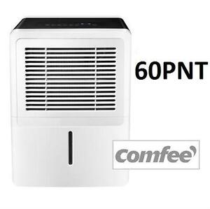 NEW COMFEE 60 PINTS DEHUMIDIFIER - 109818566 - REMOVABLE DUST FILTER - UP TO 60 PINTS/DAY OF WATER EXTRACTION