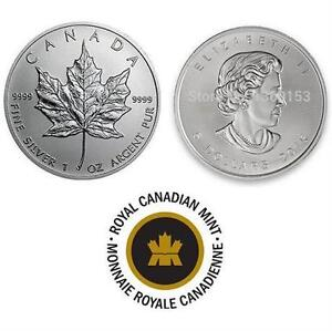 NEW $5 DOLLAR CANADIAN 1OZ SILVER COIN 2015 COLLECTIBLE COLLECTOR MONIES