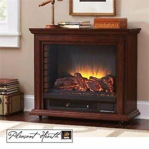 "NEW* PH SHERIDAN 31"" FIREPLACE  PLEASANT HEARTH - CHERRY - ELECTRIC MOBILE FIREPLACES HEATING DECOR FURNITURE  83504257"