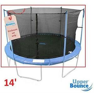 NEW UB 14' TRAMPOLINE ENCLOSURE SET ROUND FRAME FOR 3 OR 6 W-SHAPED LEGS sports outdoors bouncing jumping