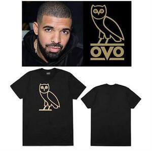 NEW OVO OWL LOGO TSHIRT MEN'S XXL BLACK GOLD - DRAKE - OCTOBER'S VERY OWN clothing 72077076
