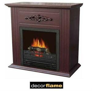 "NEW ELECTRIC FIREPLACE 28"" MANTLE DECORFLAME - ELECTRIC FIREPLACE - CHESTNUT  75550991"