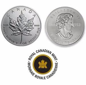 NEW $5 DOLLAR CANADIAN 1OZ SILVER COIN 2015 COLLECTIBLE COLLECTOR MONIES  69323455