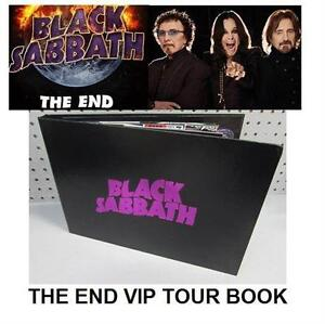 NEW BLACK SABBATH VIP THE END BOOK LIMITED TOUR EDITION collectible pop culture